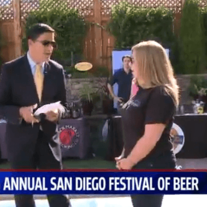 Lee and London Public Relations Client San Diego Festival of Beer on Fox5 San Diego