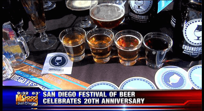 Lee and London Public Relations Client San Diego Festival of Beer on KUSI San Diego