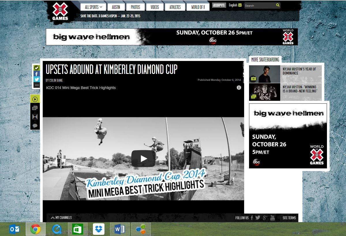 world skateboarding championships on espn