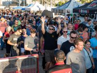 Guests line up for Festival of Beer