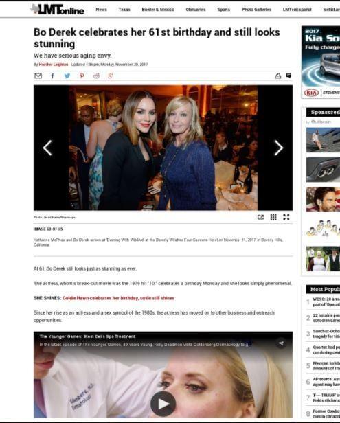 Bo Derek and Katharine McPhee in LMT Online on 2017 WildAid Gala.