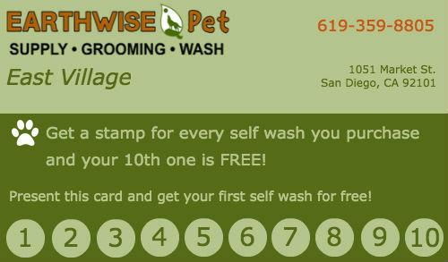 EarthWise Punch Card-1st wash free