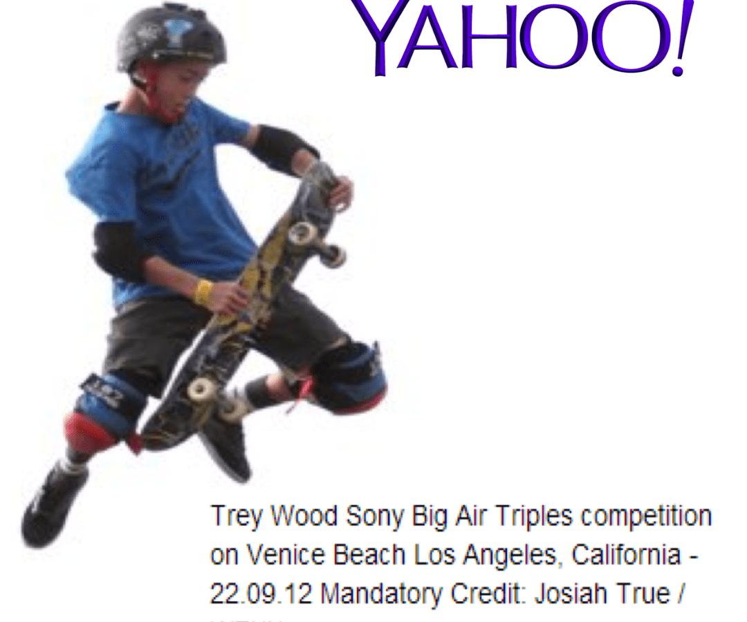 Yahoo Trey Wood headline WENN.com