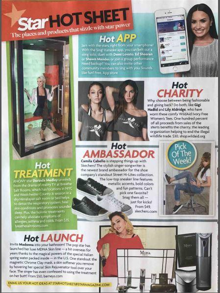 Gigi Hadid and Lily Aldridge in WildAid Ivory Free tees in Star Magazine.