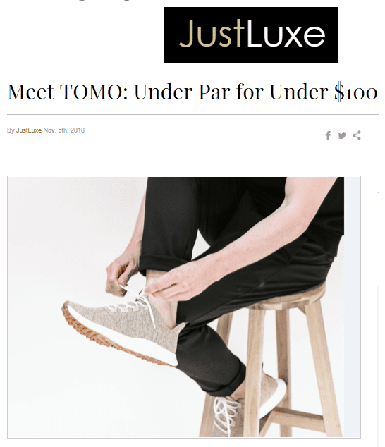 Just Luxe TOMO Feature