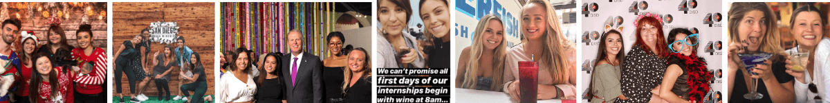 Collage of interns blog