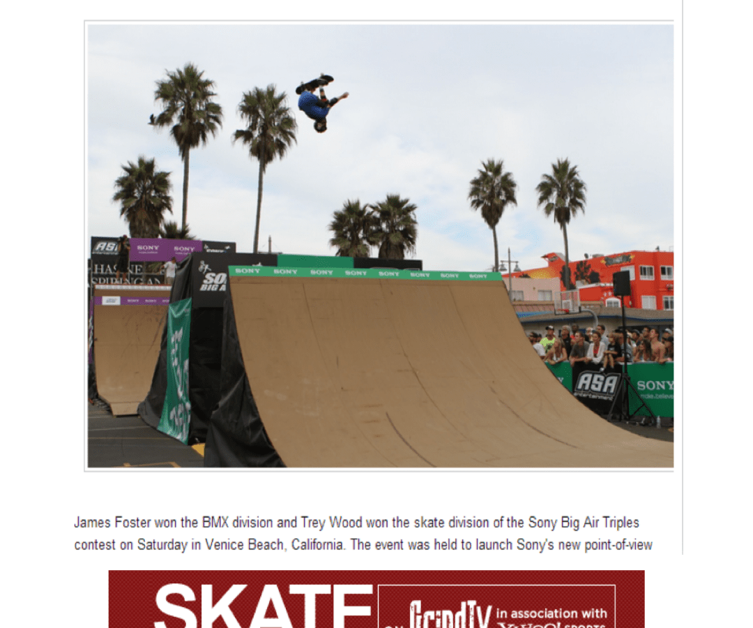 Foster and Wood win Sony Big Air Triples PR